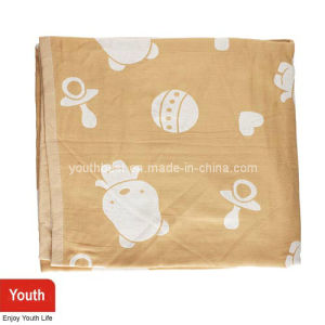 Plain Softer Baby Towel with Cute Pattern