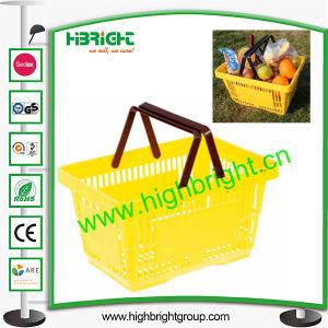 Best Selling Supermarket Plastic Baskets 28L pictures & photos