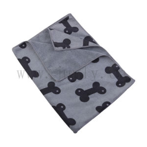 Bone Pattern Microfiber Cleaning Cloth (JL-159) pictures & photos