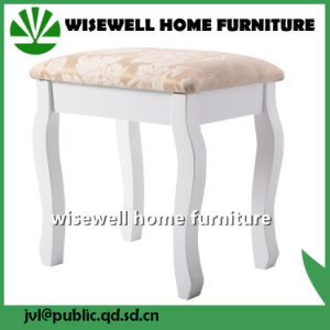 Wooden Padded Stool for Dressing Table (W-HY-080) pictures & photos