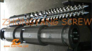 Manufacturing PVC Pipe Bimetallic Twin Conical Screw Barrel pictures & photos