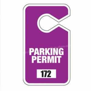 PP Hang Tag for Car Parking Permit pictures & photos