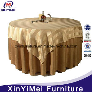 Luxury Special Embroidery Ivory Hotel Table Cloth for Wedding pictures & photos