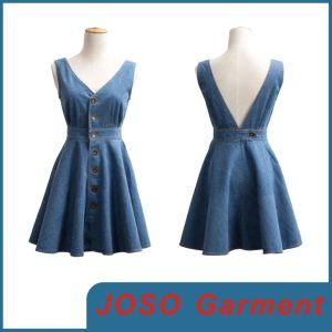 Lady Fashion Denim Dress (JC2034) pictures & photos
