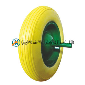 3.50-8 Solid Polyurethane Foam Wheelbarrow Tire with Spoke Color pictures & photos