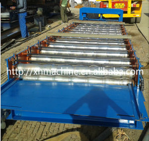Glazed Tile Forming Machine Making Steel Roofing Tiles pictures & photos