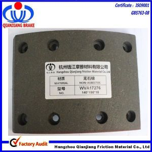 Asbestos-Free Brake Lining 17276 MB/60/1 Brake Linings for Mercedes-Benz Truck