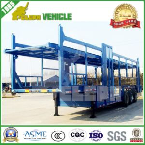 Three Axles Strong Posts Carry Car Transportation Vehicle