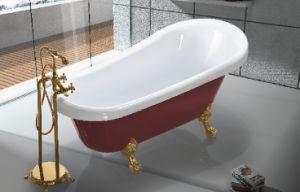China Red Acrylic Freestanding Clawfoot Bathtub JL622 China Bathtubs Hot
