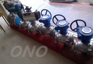 Carbon Steel Turnnion Gear Ball Valve pictures & photos