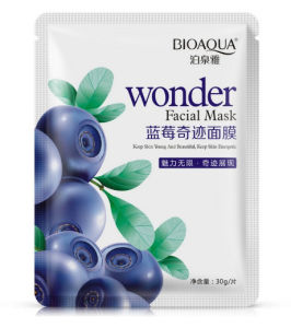 Hot! Bioaqua Wonder Facial Mask Natural Beauty Blueberry Facial Mask OEM/ODM Whitening Facial Mask pictures & photos