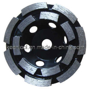 Single or Double Row Diamond Cup Grinding Wheel for Concrete pictures & photos