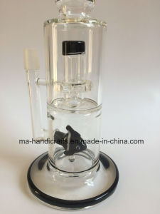 14 Inch Glass Smoking Water Pipes/Glass pipe/Glass Crafts/Scientific Instrument with Fish Perc pictures & photos