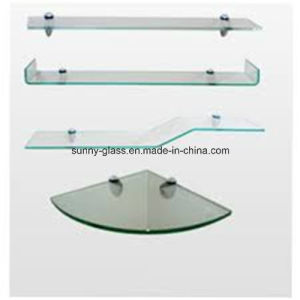 10mm Flat Polished Shelf Tempered Glass with 2 Holes pictures & photos