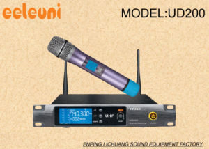 Long Working Distance UHF Pll True Diversity Wireless Microphone