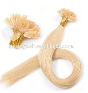 Grade 6A Double Drawn 100% Human Remy Blond Keratin Tipped Human Hair Extension, U Tip Hair/I Tip Hair/Flat Tip Hair pictures & photos