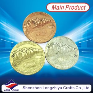 Customised Commemorative Metal Dealers Coins in Gold Silve Copper Color, Souvenir Gold Medal Award Medallion Fashion Champion Badge Coins pictures & photos