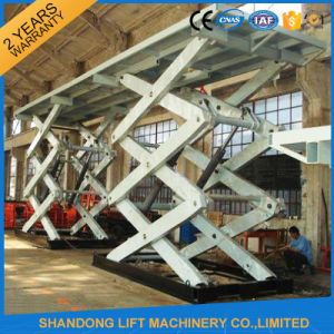 10t Heavy Duty Stationary Hydraulic Scissor Lift Table for Car pictures & photos