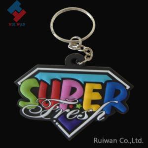 Colorful Super Diamond Shape Soft PVC Key Ring pictures & photos