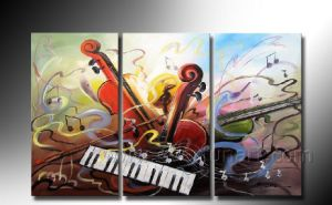 Handmade Wall Picture Music Abstract Art Piano Oil Painting on Canvas (XD3-203) pictures & photos