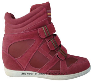 China Women Leather Fashion Comfort Boots Shoes (515-4692) pictures & photos