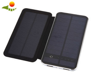 Portable Solar Power Bank 10000mAh Dual USB Port 5V Input for Outdoor Camping Emergency pictures & photos