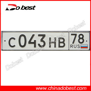Reflective Car License Plate for Russia pictures & photos