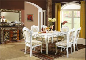 Luxury Dining Sets/European Style Restaurant Furniture/Antique Style Dining Sets (CHN-017) pictures & photos