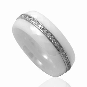 Sterling Silver Jewelry Ring and Ceramic (R20058) pictures & photos