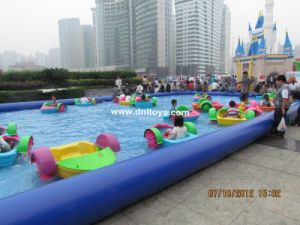Bright new color paddle boat for children