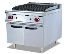 Gas Lava Rock Grill cooker with Cabinet (GH-989) pictures & photos