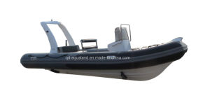 Aqualand 14.5feet 5.4m Rigid Inflatable Sport Boat/Fiberglass Motor Boat (rib540b) pictures & photos