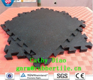 Interlocking Gym Flooring Anti-Slip Rubber Flooring Gym Flooring Mat Sports Rubber Flooring pictures & photos