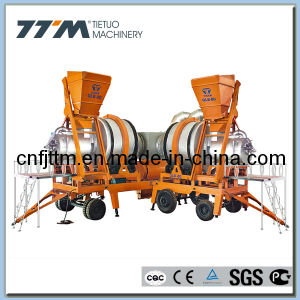 80tph Mobile Hot Mix Asphalt Batching Mixing Plant pictures & photos