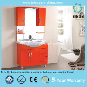 Hotel Style Fashion Orange Color Bathroom Cabinet (BLS-16025G) pictures & photos