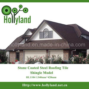 Zinc Aluminium Stone Chips Coated Steel Roof Tile (Shingle Type) pictures & photos