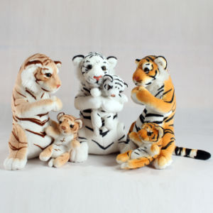 Mum and Baby Standing Tiger Animal Soft Toy Plush Custom pictures & photos