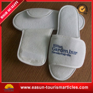 Five Star Luxury Foam Disposable Fleece Lined Slippers Slippers for Hotel pictures & photos