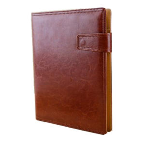 Hardcover Leather A4 Ring Binder Diary Notebook with Pen Holder pictures & photos