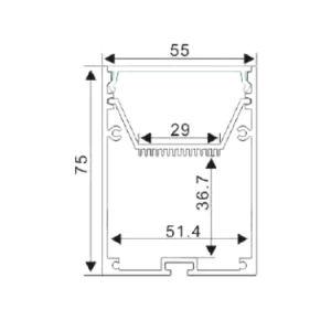 4239 Ceiling LED Light Aluminium Extrusion Aluminium LED Profile pictures & photos