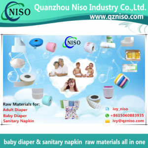 Breathable Spunlace Nonwoven for Wet Wipes/Baby Diaper Raw Materials pictures & photos