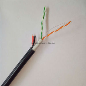 CCTV Cat5e LAN Cable with Power Wires (2 twisted pairs) pictures & photos