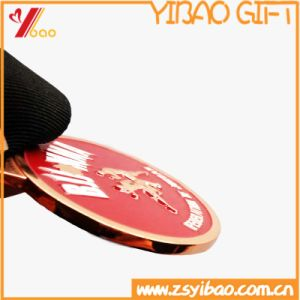 Custom 3D Soft Enamel Sport Lanyards 60mm Round Shape Coin / Medal (YB-HD-97) pictures & photos