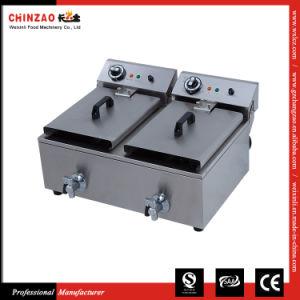 Double Tank Deep Fat Electric Fryer Frying Machine Dzl-20L pictures & photos
