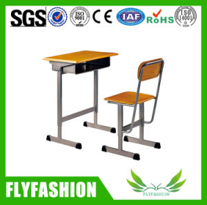 Wooden Furniture School Adjustable Single Student Desk Set for Wholesale (SF-08S) pictures & photos