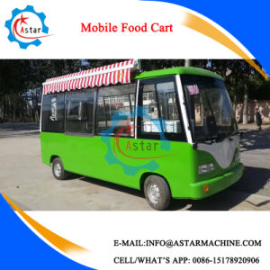 Electric Driven Mobile Food Trolley Cart for Sale pictures & photos