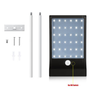 Outdoor 450lm 36 LED Solar Powered Motion Sensor Light Waterproof Wall Lamp for Path Garden with Mounting Pole pictures & photos