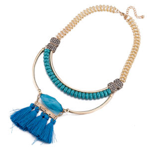 Bohemian Style Beaded Tassel Pendant Necklace Fashion Artificial Jewelry pictures & photos