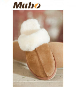 Women′s Sheepskin Scuff Sheepskin Slippers pictures & photos