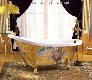 New Design Luxury Mosaic Acrylic Soaking Bath Tub (620A-1) pictures & photos